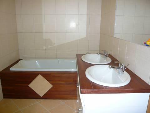 Salle de bains Parquet Carrelage
